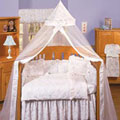 Isabella Blue Gathered Bed Skirt