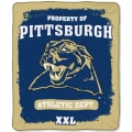 "Pittsburgh Panthers College ""Property of"" 50"" x 60"" Micro Raschel Throw"