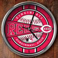 "Cincinnati Reds MLB 12"" Chrome Wall Clock"