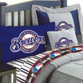 Milwaukee Brewers Authentic MLB Team Jersey Bedding Twin Size Comforter / Sheet Set