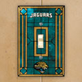 Jacksonville Jaguars NFL Art Glass Single Light Switch Plate Cover
