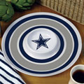 "Dallas Cowboys NFL 14"" Round Melamine Chip and Dip Bowl"