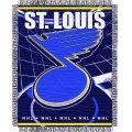 "St. Louis Blues NHL 48"" x 60"" Triple Woven Jacquard Throw"