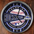 "Colorado Rockies MLB 12"" Chrome Wall Clock"