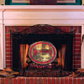 Arkansas Razorbacks NCAA College Stained Glass Fireplace Screen