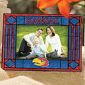 "Kansas Jayhawks NCAA College 6.5"" x 9"" Horizontal Art-Glass Frame"