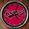 "Arizona Cardinals NFL 12"" Chrome Wall Clock"