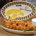 "Iowa Hawkeyes NCAA College 12"" Gameday Ceramic Oval Platter"