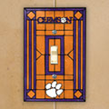 Clemson Tigers NCAA College Art Glass Single Light Switch Plate Cover