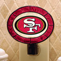 San Francisco 49ers NFL Art Glass Nightlight