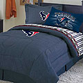 Houston Texans NFL Team Denim Queen Comforter / Sheet Set