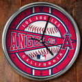 "Los Angeles Anaheim Angels MLB 12"" Chrome Wall Clock"