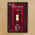 Atlanta Falcons NFL Art Glass Single Light Switch Plate Cover