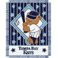 "Tampa Bay Devil Rays MLB Baby 36""x 46"" Triple Woven Jacquard Throw"
