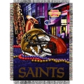 "New Orleans Saints NFL ""Home Field Advantage"" 48"" x 60"" Tapestry Throw"