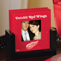 Detroit Redwings NHL Art Glass Photo Frame Coaster Set