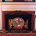 San Francisco 49ers NFL Stained Glass Fireplace Screen