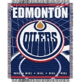 "Edmonton Oilers NHL 48"" x 60"" Triple Woven Jacquard Throw"