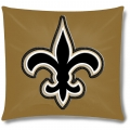 "New Orleans Saints NFL 16"" Embroidered Plush Pillow with Applique"
