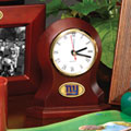 New York Giants NFL Brown Desk Clock