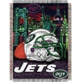 "New York Jets NFL ""Home Field Advantage"" 48"" x 60"" Tapestry Throw"