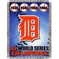 "Detroit Tigers MLB ""Commemorative"" 48"" x 60"" Tapestry Throw"