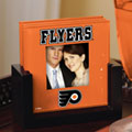 Philadelphia Flyers NHL Art Glass Photo Frame Coaster Set