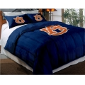 "Auburn Tigers College Twin Chenille Embroidered Comforter Set with 2 Shams 64"" x 86"""