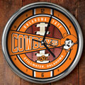 "Oklahoma State Cowboys NCAA College 12"" Chrome Wall Clock"