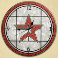 "Houston Astros MLB 12"" Round Art Glass Wall Clock"