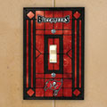 Tampa Bay Buccaneers NFL Art Glass Single Light Switch Plate Cover