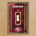 San Francisco 49ers NFL Art Glass Single Light Switch Plate Cover