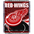 "Detroit Red Wings NHL 48"" x 60"" Triple Woven Jacquard Throw"