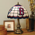 Boston Red Sox MLB Stained Glass Tiffany Table Lamp
