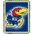 "Kansas Jayhawks NCAA College ""Focus"" 48"" x 60"" Triple Woven Jacquard Throw"