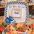 "Duke Blue Devils NCAA College 14"" Gameday Ceramic Chip and Dip Tray"
