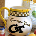 "Georgia Tech Yellowjackets NCAA College 14"" Gameday Ceramic Chip and Dip Platter"