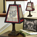 Washington Nationals MLB Art Glass Table Lamp