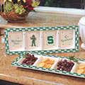 Michigan State Spartans NCAA College Gameday Ceramic Relish Tray