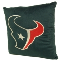 "Houston Texans NFL 16"" Embroidered Plush Pillow with Applique"