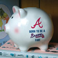 Atlanta Braves MLB Ceramic Piggy Bank