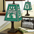 Michigan State Spartans NCAA College Art Glass Table Lamp
