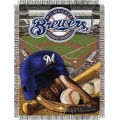 "Milwaukee Brewers MLB ""Home Field Advantage"" 48"" x 60"" Tapestry Throw"