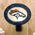 Denver Broncos NFL Art Glass Nightlight