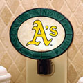 Oakland Athletics MLB Art Glass Nightlight