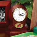 New Jersey Devils NHL Brown Desk Clock
