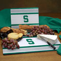 Michigan State Spartans NCAA College Glass Cutting Board Set