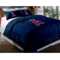 "Los Angeles Angels MLB Twin Chenille Embroidered Comforter Set with 2 Shams 64"" x 86"""