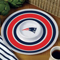 "New England Patriots NFL 14"" Round Melamine Chip and Dip Bowl"