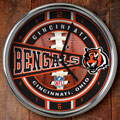 "Cincinnati Bengals NFL 12"" Chrome Wall Clock"